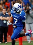 Khalif Herbin, scoring one of his five touchdowns in Montclair's 35-7 win over East Orange in front of 9,000 fans.