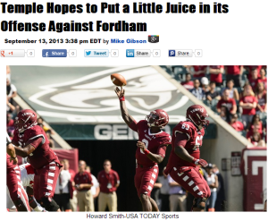 Click on the photo of Juice for a preview of the Fordham game.