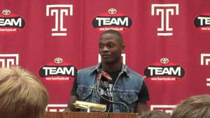 Khalif Herbin meets the media on Tuesday and talks about his time in witness protection.