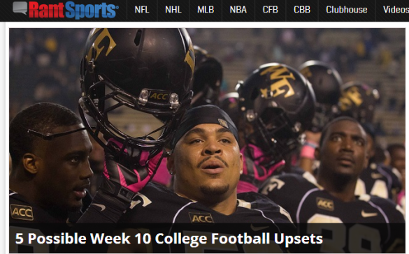 Click on the Wake Forest guys for five upsets this week.