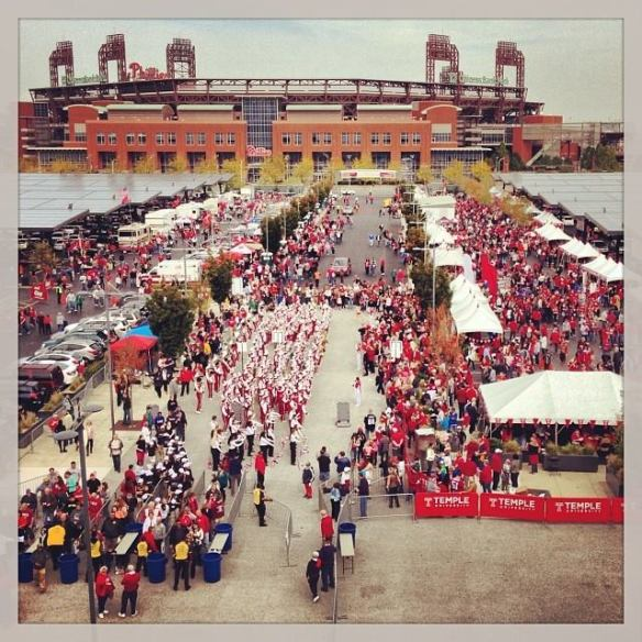 Great shot of the tailgate scene. You'll never find more Temple grads in one spot as you will at a TU football game.