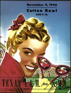 The SMU team Temple tied in 1946 played in the Cotton Bowl that same calendar year.