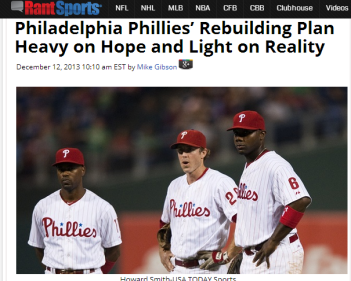 Click on the Holy Trinity of  Phils' Oldheads for a comparison between Ruben Amaro's approach and Temple football.