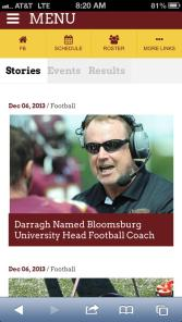 Paul Darragh finished his first season as head coach at Bloomsburg with a 10-2 record.