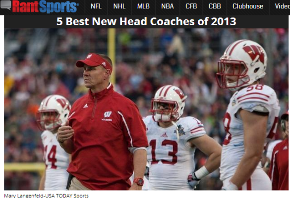 Click on the photo of Wisconsin's Gary Andersen for the five best first-year coaching jobs of 2013