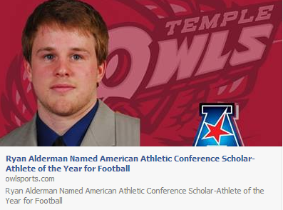 Click over Ryan Alderman to read about this prestigious award.