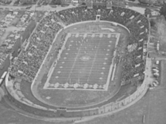 The original Temple Stadium at Pickering and Cheltenham Aves.