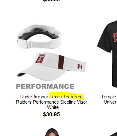 "This ad appeared on ""Owlsports.com"" on Monday morning, illustrating the fact that while we all know and love the Temple ][, it doesn't mean crap to a copy writer for Under Armour or the outside Temple public."