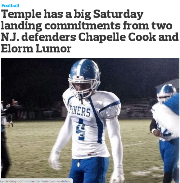 Looks like recruiting is going to a new level. Read this Newark Star-Ledger story on an Owl standing Saturday.