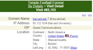 Harvard checking in, hopefully head coach Tim Murphy who completed an unbeaten season on Saturday.