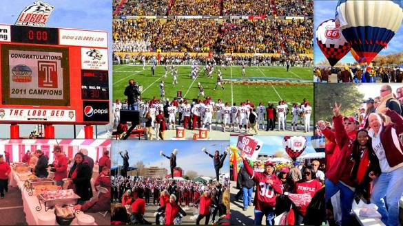 Ted's own photos from the more recent past, including these from the New Mexico Bowl. Hopefully, the current coaching staff delivers with several of these bowl experiences starting next year.