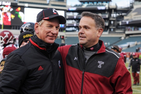 Tommy Tuberville (left) coached is an outstanding head coach.