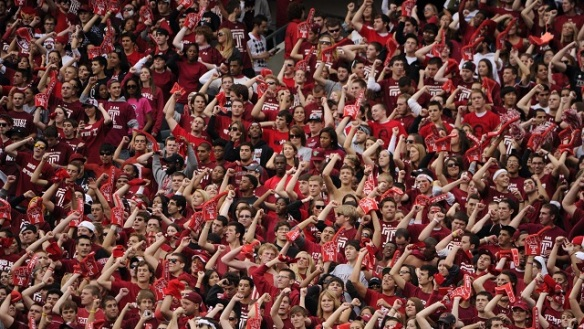 Click on the photo of TU student section for story.