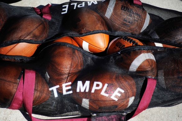Spring practice begins on Monday and the balls (above) already are fully inflated and ready to go. Click on them for 5 positional battles to watch.