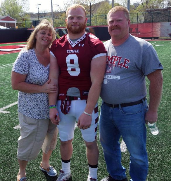 Saturday was all about family and football and Tyler Matakevich poses with his parents. If he has big games against ND and PSU,  he could be posing with some valuable hardware in a few months. Click on No. 8 for the story.