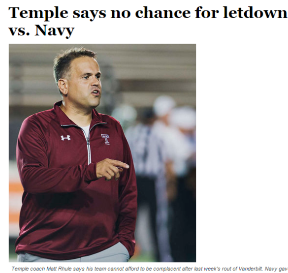 There should be no such thing as a letdown in college football, but we all know it exists.