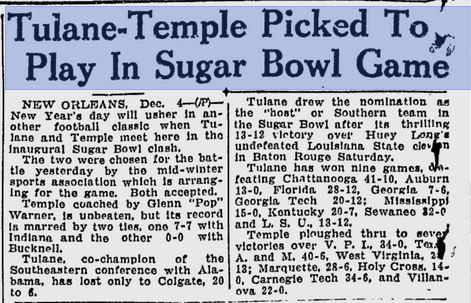 Tulane beat Huey Long's LSU team to earn a shot at Temple.
