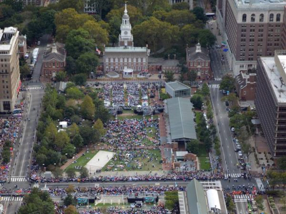 Temple fans are going to have to fill Independence Hall with a crowd this size plus a few hundred clever banners.