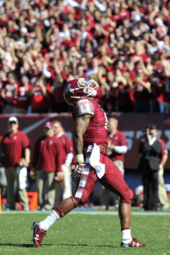Click on the photo of Jahad Thomas thanking God for the Owls' good fortune for reasons.