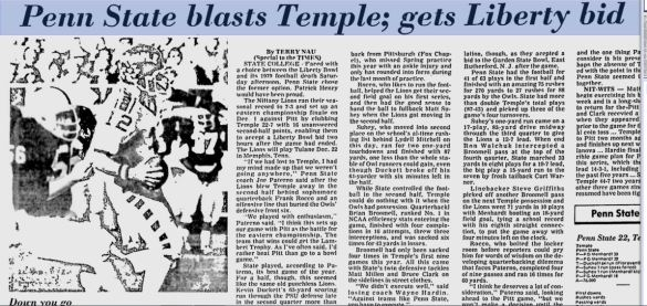 The last (and only) time Temple had a chance to go 9-1 this happened.