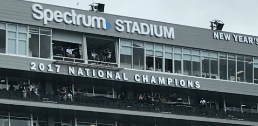 Owl fans who flock to Spectrum Stadium will see this sign